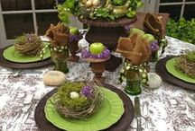 """Tablescapes / """"It's not so much what's on the table that matters, as what's on the chairs."""" ---W. S. Gilbert"""