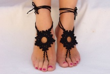 barefoot sandals, other sandals, baby booties, and slippers for all ages / by Brenda Johnson