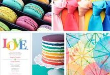 Rainbow Wedding / Can't decide on a color scheme for your wedding? Why not have them all! Rainbow-themed weddings are both unique and creative. Here is some inspiration for your colorful wedding! / by Vistaprint