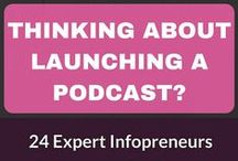 "The Podcast Pep Talk / Are you thinking about launching a podcast, we will share why you should and give hints, tips, and how-to, to why it's time to launch that podcast! Let's talk about everything from ""finding your voice"" to equipment, to shameless self-promotion and building an audience, and the invaluable first steps to creating your own podcast. If you would like to join the group send me a PM or email me at terra@imaginebandt.com with your pinterest url."
