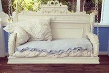 Headboard  swings and benches