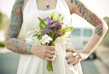 Brides + Ink / Ink inspired pics for the alternative bride and groom and their wedding party / by Number 9 Photography