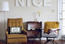 Apartment Living (decor) / I love the apartment life and the uniquely fun decor that often comes with that!