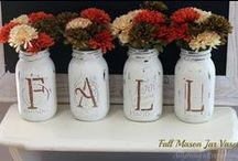 Fall Is In The Air / Anything & Everything to do with fall!  Fall front porch ideas, crafts, home decor, and DIY projects to get the home ready for fall!