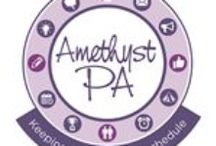 Amethyst PA Top Tips / Top Tips for business owners who are ready for help to grow their business. Time management, delegation, trust, social media, marketing, twitter, facebook, diary management, event planning