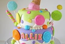 cupcake and candy cakes ideas