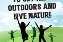 Tressi Tips to Get Kids Outdoors / Creative, inactive, and inspirational suggestions to get kids outdoors and love nature. From getting real dirty and blending with the earth to personal self-discovery with personality analysis with a personal tree drawing.