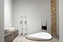Zen. Modern. Minimalistic. Simple. / Uncluttered designs incorporating cement, rocks, glass or metal. / by Kim L.