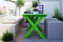 Urban balcony inspiration / Decorating that tiny patch of concrete called a balcony. / by Kim L.