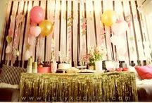 // l a e l i a ' s { s e c o n d } // / An ombré pink and gold geometric shapes party? Maybe.  / by Jesyka D'Itri Marés