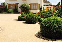 Driveways / Our permeable resin bound paving systems are extremely durable, smooth with no loose stone and require minimal maintenance, which makes them perfect for driveways.