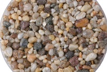 Natural Aggregates & Crushed rocks / Here is a small range of the natural aggregates we use. If you would like a sample, please visit our website.