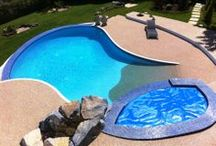 Swimming Pools / Our SureSet surfaces offer a beautiful and seamless surround to your internal or external swimming pool.