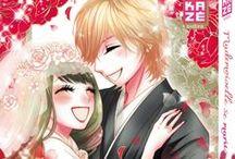 Mademoiselle se marie ! (série terminée) / Towako est issue d'une famille à la tradition ancestrale bien particulière. Suivant les usages, elle devra épouser à ses dix-huit ans un garçon né le même jour et à la même heure qu'elle. Si cet avenir est celui auquel Towako a toujours aspiré, il n'en va pas de même de son fiancé désigné, Yûga, qui apprend brusquement qu'il va devoir épouser une inconnue ! Comment la jeune fille arrivera-t-elle à concilier ses rêves d'enfant et la dure réalité de cette relation d'ores et déjà compliquée ?