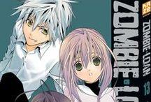 """Zombie-Loan (série terminée) / Quand un humain est destiné à mourir, une ligne grisée, invisible à la plupart d'entre nous, apparaît autour de son cou. Plus le temps passe et plus ce cercle s'assombrit, jusqu'à la mort du sujet. Michiru Kita a reçu un don inhabituel ; elles possède les """"yeux d'un Shinigami"""", lui permettant de voir ces cercles. Michiru remarque que non seulement deux des garçons de sa classe, Akatsuki Chika et Tachibana Chito ont ces cercles, mais qu'ils sont de surcroît déjà noirs…"""