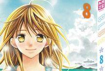 Blue (série terminée) / De retour après trois ans d'absence sur l'île où elle a grandi, Mimi retrouve ses amis d'enfance, Yôsuke, Sumire et Hikari. Le cœur blessé par une déception amoureuse à Tokyo, elle renoue avec cette magnifique île, entourée d'une mer turquoise. Mais au sein du groupe, amour et amitié se confondent, et le monde bleu des quatre amis s'ouvre sur une histoire inoubliable…