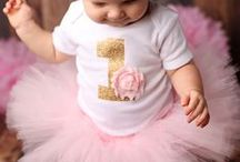 {charlotte's first birthday} / bonnets & bows; pink & gold colors / by kiko l.