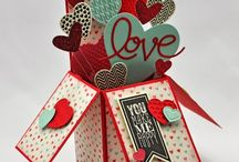 Valentine's Day Ideas / Paper-Crafting projects for Valentine's Day from clean and simple to vintage!