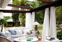 Outdoor Living at its best! / These outdoor spaces are incredible....how could you not be happy!
