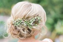 Bridal Hair / Beautiful ways to wear your hair.  Bride and bridesmaid inspiration!