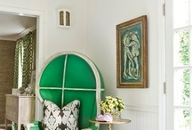 Emerald colour for interiors