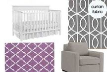 Baby F's Nursery / Designing a nursery for our baby girl in lavender & grey with blue accents