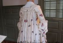 Sacque Back Gowns / by Sew 18th Century