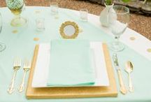 Wedding Colors - Mint Green / The color mint has become increasingly popular in weddings lately, and we couldn't be more excited.  This subtle, yet stunning color can be matched with so many different accent hues and will give a distinct feel to every combination.