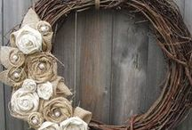 {Homemaking} Wreaths for Every Season / There are elegant and adorable wreaths for every season. From simple to complicated - I simply adore wreaths. These are some of my wreath crafts.