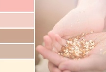Wedding Colors - Gold and Blush / Gold and blush color inspiration for your wedding ceremony and reception.