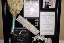 Wedding Shadow Box Ideas / Wedding shadow boxes capture and display all the important details that went into making your wedding day so special.