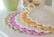 Crochet - potholder prettyness