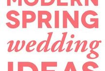 Spring Wedding / Enchanting, colorful, and elegant spring wedding inspiration and  spring wedding ceremony and reception ideas