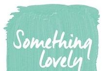 something lovely blog