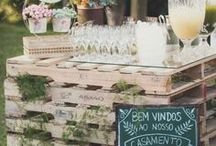 Rustic Chic Wedding / Timeless rustic chic wedding ceremony and reception decoration ideas