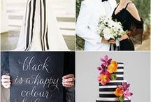 Wedding Colors - Black and White / Black and white can be formal or casual, compliment each other or stand alone. No matter your wedding ceremony and reception decor, you can't go wrong with black and white for your core wedding colors.
