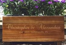 Bride and Groom Gift Ideas / A thoughtful personalized gift that the new husband and wife can use in their new life together is always a big hit, and shows that you have put some thought into your special git to them.