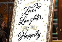 Wedding Signage / Get inspiration for your wedding yard signs and directional signs with this collection of whimsical wedding day signage.