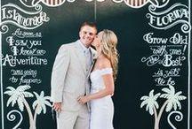 Chalkboard Wedding / Chalkboard themed wedding ceremony and reception decoration ideas.