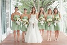 Wedding Colors - Green and Ivory / Green and ivory wedding color inspiration.