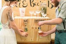 Wedding Drink Station Ideas / From rustic to upscale wedding receptions, brides are setting up creative drink stations for guests to find everything from water and fresh-pressed juices to alcoholic beverages and unique fresh brewed coffees.
