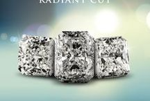 Radiant Diamonds / Our signature diamonds on display both in settings and alone!