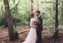 Woodland Wedding / Woodland wedding ceremony and reception inspiration