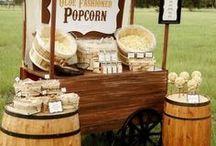 Popcorn Bar Wedding / Wedding reception popcorn bar ideas