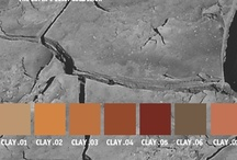 YOLO Colorhouse CLAY color family / YOLO Colorhouse CLAY color family notes: • rich and earthy • exudes warmth and energy • people magnets • drama and activity • welcoming / by Colorhouse Paint