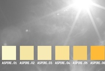 YOLO Colorhouse ASPIRE color family / YOLO Colorhouse ASPIRE color family notes: • sun drenched • instant cheer • stimulates creative thought • companions to natural light • sunrooms and kitchens / by Colorhouse Paint