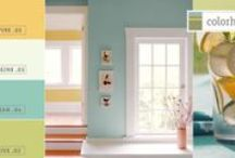 Color Stories: Picnic Palette / This spring we are not shying away from color! Sunny, bright yellows are hot in home décor, and when paired with light blues and greens, create a fresh look.  Perfect for sunrooms, kitchens and bedrooms, these happy hues are sure to lift spirits. ASPIRE .05 is the yellow anchor for this group.  DREAM .04 breathes cool air, while THRIVE .02 adds a tangy twist and IMAGINE .03 brings balance to this mix.