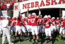 NEBRASKA Football / A Nebraska football board, I had to do it.  This is what every die-hard Nebraska fan would do it they Pinterest.    GO BIG RED!!!