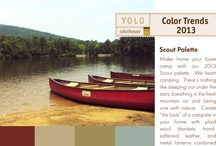 Scout Palette / Today's quiet retreat is all about camping, sleeping under the stars or breathing in the fresh, crisp mountain air. The YOLO Colorhouse Scout palette brings the yearning for nature inside with a palette that creates the look of a campsite with CLAY .05, STONE .02, LEAF .05 and WATER .06. / by Colorhouse Paint