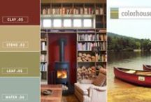 Color Stories: Scout Palette / Today's quiet retreat is all about camping, sleeping under the stars or breathing in the fresh, crisp mountain air. The Colorhouse Scout Palette brings the yearning for nature inside with a palette that creates the look of a campsite with CLAY .05, STONE .02, LEAF .05 and WATER .06.